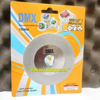 "Mata Pisau Potong Cutting Gerinda Diamond Cup Batu Akik Cincin DMX 4"""