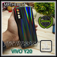 VIVO Y12s UME AURORA ORIGINAL CASE TEMPERED GLASS HARDCASE SOFT CASING