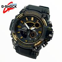Jam Tangan Pria G shock Gs 1289 Terkini - HITAM GOLD