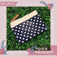 Pouch Tas Kosmetik Dompet Polkadot Organizer Alat Mandi Travel Bag