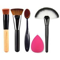 Set Perlengkapan Make Up Brush Travel 5 in 1 Kuas Makeup - Multi Warna