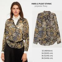 Baju Branded Wanita - H&M LS PLEAT ETHNIC