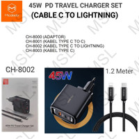 Mcdodo Charger 45W + Kabel Type C to iPhone Lightning PD Fast CH-8002