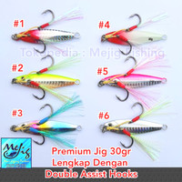 Metal Jig Premium 30gr Lengkap Dengan Double Assist Hook