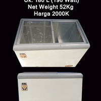 chest freezer display cooler 186L merk GEA u/ Frozen Food / Es Cream