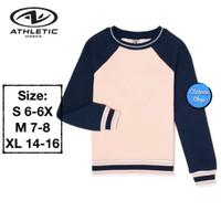 Athletic Works Sweatshirt Anak Perempuan Peach Sorbet Branded Original
