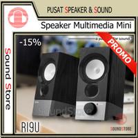 Speaker PC komputer laptop Mini Multimedia Stereo 2.0 4W USB SoundCard
