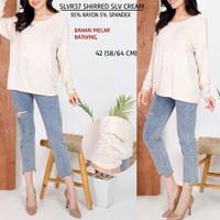Baju Branded Wanita - S.OLIVER 37 SHIRRED SLV CREAM