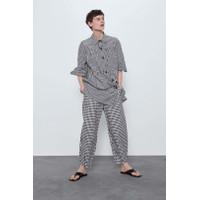 Celana Panjang Wanita Black Grid Import