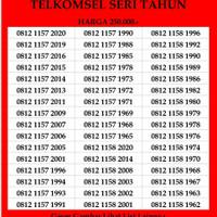 Nomer Cantik Simpati Seri Tahun 4G TLE Telkomsel Kartu Perdana