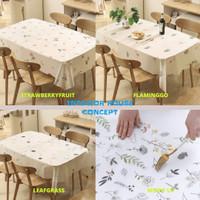 Taplak Meja Makan Anti Air Taplak Meja Plastik Taplak Meja Waterproof - STRAWBERRYFRUIT
