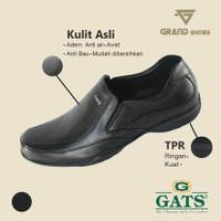 Sepatu kulit Gats Hitam 38-43 sepatu Pantofel Pria Original