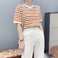 Baju Atasan Kaos Korea Triline Color Import