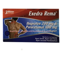 Exedra Rema Ibuprofen 200mg Obat Untuk Nyeri Sendi Nyeri 30kapsul