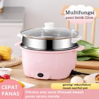 Multifungsi electric fry pan / Panci Listrik lapisan keramik 22cm