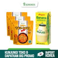Paket Hemat Buy 3 Tokpoki + Binggrae Banana Milk 200ml