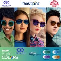 lensa kacamata essilor transition Gen 8 warna biru ungu coklat hijau