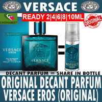 PARFUM ORIGINAL VERSACE EROS 2ML DECANT SHARE IN BOTTLE GLASS NOT VIAL