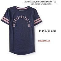 Baju Branded Wanita - AEROPOSTALE 65 ARCH HEATHERNAVY TEE