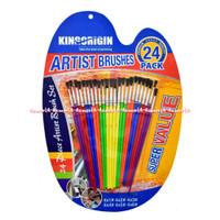 Kingorigin Artist Brushes 24Pcs Kuas Cat Lukis 1Set