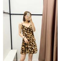 Mini Dress Korea Sexy Leopard Pattern Import