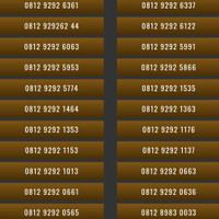 Nomor Cantik Simpati 4G 0812 9292 Nomer Cantik Kartu Perdana Telkomsel