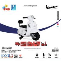 Mainan Motor Aki PMB M-788 VESPA OFFICIAL LICENSED - Putih