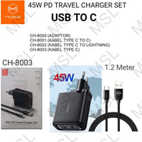 Mcdodo Charger 45W + Kabel Type C VOOC QC3.0 SuperCharge Fast CH-8003
