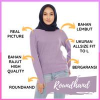 cardigan rajut wanita cardigan wanita roundhand sweater oneck premium - bata