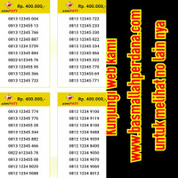 Nomor Cantik simPATI urut naik 123456 082 1 2 3 4 5 5 6 40 pls05