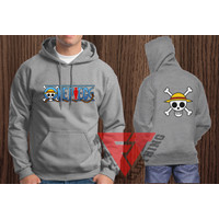 Jaket Sweater Hoodie One Piece Size XS sampai XXXL - FIFTY CLOTHING - Putih, XS