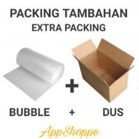 TAMBAHAN PACKING BOX KARDUS BUBBLE WRAP PRODUK FRAGILE PESANAN BANYAK