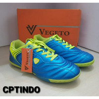 Sepatu futsal vegeto larizo BLUE NEON original 100% new model 2016 - 39