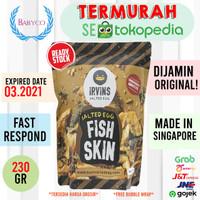 READY STOCK! IRVINS Salted Egg Fish Skin (Singapore) - Fish Skin - 230 G