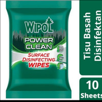WIPOL POWER CLEAN SURFACE DISINFECTING WIPES 10 L/ TISSUE BASAH WIPOL