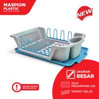 Maspion Plastik Rak Pengering Piring - Steady Dish Drainer