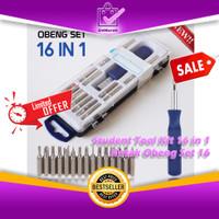 Student Tool Kit 16 in 1 Kotak Obeng Set 16 Pcs 0489
