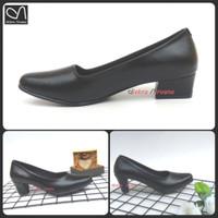 sepatu pantofel wanita high heels hitam polwan PDH cewek PKS kerja