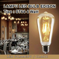 Lampu Led filament / Classic/Retro / Antik ST64 Kuning MORGEN