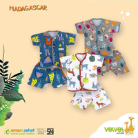 Setelan baby Velvet Junior / Baju pendek celana pendek bayi 3 bulan