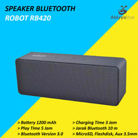 Speaker Bluetooth Robot RB420 5.0 Support MicroSD - USB - Aux 3.5mm