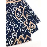 Viscos Navy Pastel motif 2 cirebon kain batik viscose mega mendung