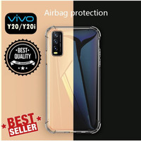 VIVO Y20s SOFT ANTI CRACK SILICONE COVER CASE BENING CLEAR CASING TPU