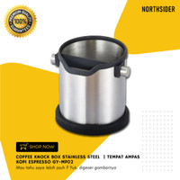 COFFEE KNOCK BOX STAINLESS STEEL | TEMPAT AMPAS KOPI ESPRESSO GY-MP02