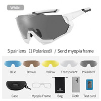 Kacamata Sepeda Rockbros 5 Lensa Polarized Night Vision Photochromic