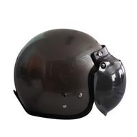 Helm Bogo / Helm Retro / Half Face ANT Classico Gunmet (Free Kaca Helm