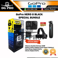 GoPro HERO8 Black - GoPro HERO 8 - Go Pro HERO 8 Paket Komplit Distri