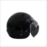 Helm Bogo / Helm Retro / Half Face ANT classico Black (Free kaca helm)