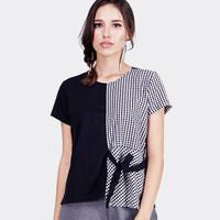 Kemeja Wanita / Half Square Black Shirt 22531D5BS - Ninety Degrees