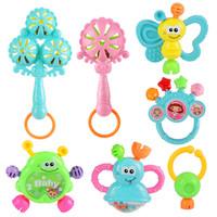 Mainan Kerincingan 7pcs Genggam dengan Bahan Plastik untuk Bayi / Anak